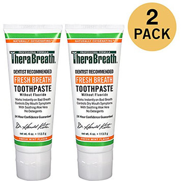 TheraBreath Dentist Recommended Fresh Breath Dry Mouth Toothpaste Without Fluoride