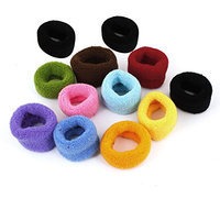 Uxcell 12 Pairs Elastic Fabric Ladies Ponytail Holder