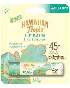 Hawaiian Tropic® SPF 45+ Vanilla Mint Sunscreen Lip Balm