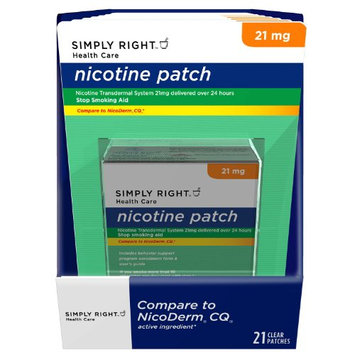 Simply Right Nicotine Patch Step 1