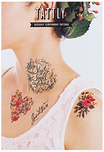 Tattly Temporary Tattoos Floral Set