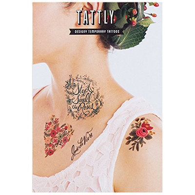 Tattly Temporary Tattoos Floral Set