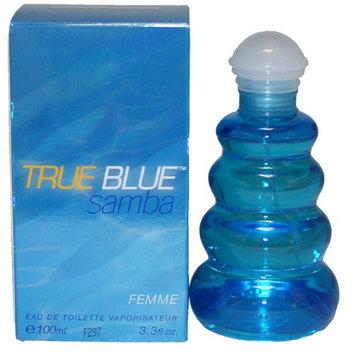 Samba True Blue By Perfumers Workshop For Women. Eau De Toilette Spray 3.4 Ounces