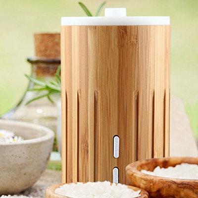 ZAQ Bamboo Lite Mist Aromatherapy Essential Oil Diffuser