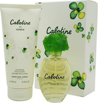 Cabotine By Parfums Gres For Women. Set-edt Spray 3.3 Ounces & Body Lotion 6.8 Ounces