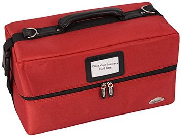 Craft Accents 2-Tiers Accordion Trays Soft-Sided Professional Makeup Case