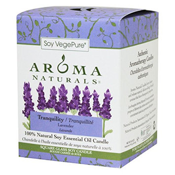 Aroma Naturals Tranquility Square Glass Soy Candle