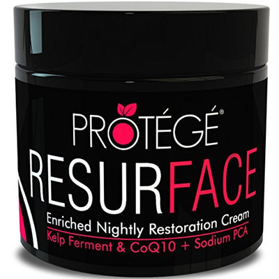 Best Night Moisturizer - RESURFACE - Anti-Aging Moisturizing Cream for Men and Women. Gain Softer Skin Overnight. Fortified with Shea Butter + Collagen + Sea Kelp and Rosehip Oil (1oz)