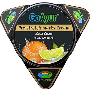 GoAyur Lemon Orange Ayurvedic Pre Stretch Marks Cream Natural Stretch Marks Prevention & Herbal Moisturizing Cream