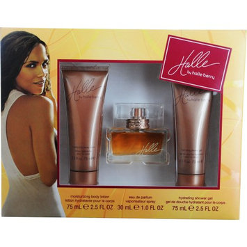 Halle Berry Halle Set (Eau De Parfum Spray and Body Lotion and Shower Gel)