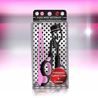 Professional Eyelash Curler and Tweezer Set - Ideal Christmas Present in beautiful presentation case