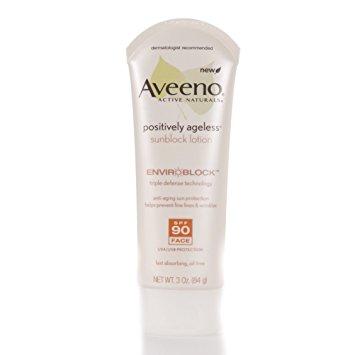 Aveeno® Positively Ageless Sunblock Face Lotion SPF 90