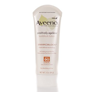 Aveeno® Positively Ageless Sunblock Face Lotion SPF 90