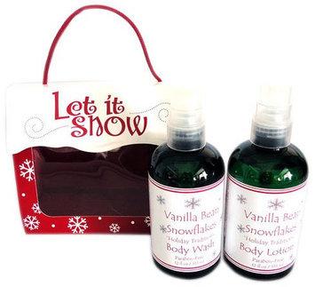 Naturally Pampered Vanilla Bean Snowflakes Bath and Body Gift Set