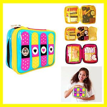 Cute Makeup Bag Cosmetic Organizer Toiletry Pencil Pouch Women Back to School Teen Girl Train Case (Medium) by Miss Locker