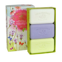 Pre de Provence Floral Meadow Soap Gift Box with Three 150 Gram Soaps