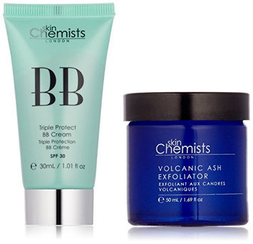 skinChemists Triple Protect BB Cream with SPF 30 Light and Volcanic Ash Exfoliator