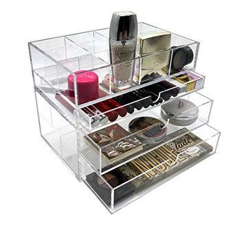 PuTwo Make Up 5mm Thick Acrylic Storage Drawer Organiser