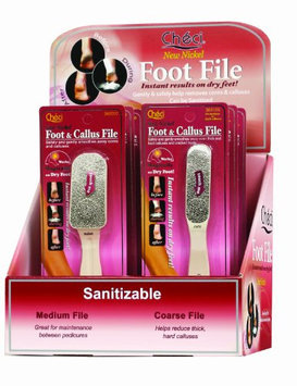 Checi Beige Foot File Display 3/Coarse and 3/Medium Carded