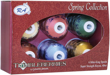 Robison-anton Robison-Anton Thimbleberries Spring Rayon Thread Collection - 6 Count Multi