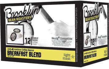 Brooklyn Bean Roastery Light Roast Coffee Breakfast Blend 12 K-Cups