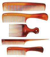 Diane DBC016 Assorted Tortoise Combs 5-Pack