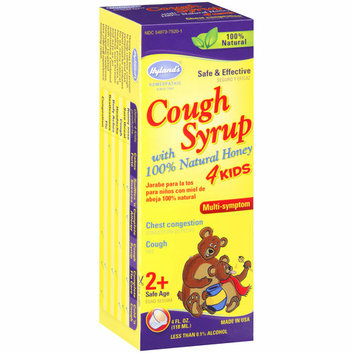 Hyland's Multi-Symptom Relief Cough Syrup with 100% Natural Honey