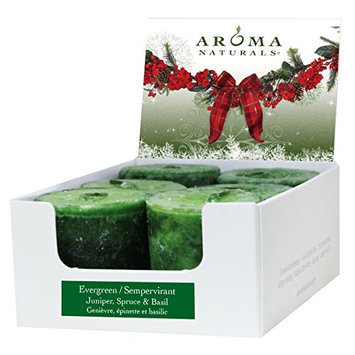 Aroma Naturals Votive Candles Essential Oil with Juniper Spruce and Basil