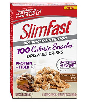 SlimFast® Advanced Nutrition 100 Calorie Snacks Drizzled Crisps, Cinnamon Bun Swirl