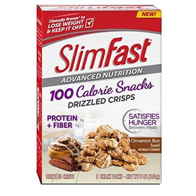 SlimFast® Advanced Nutrition 100 Calorie Snacks Drizzled Crisps, Cinnamon Bun Swirl