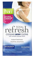 Ban Total Refresh Cooling Body Cloths Invigorate 10 Cloths