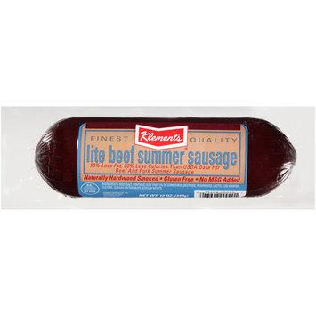 Klement's Klement¬タルs Lite Beef Summer Sausage, 12 oz