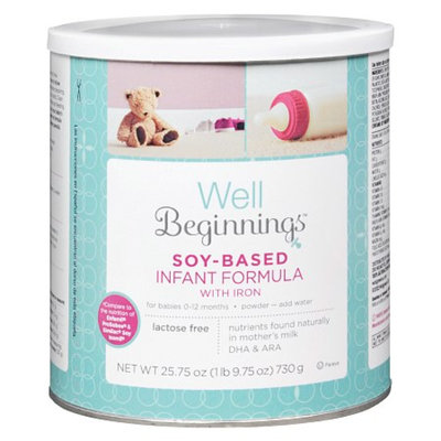 Well Beginnings Infant Formula Soy with DHA, 25.75 oz