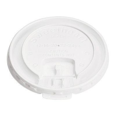 Solo Cup Company Liftback and Lock Tab Cup Lids for Foam Cups