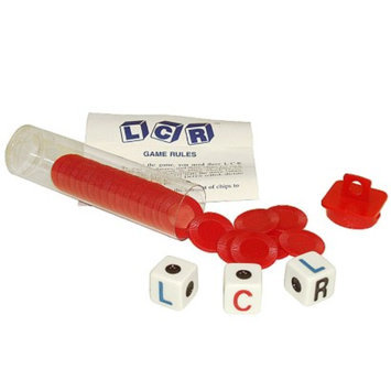 Trademark Left Center Right Dice Game - Red