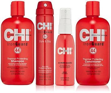 CHI 44 Iron Guard Thermal Protecting System including CHI Iron Guard Shampoo 12oz