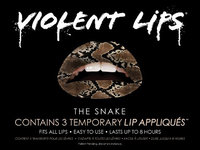 Violent Lips - The Snake Glitteratti - Set of 3 Temporary Lip Appliques