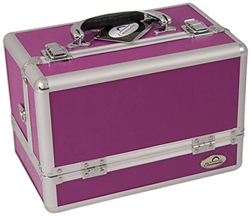 Craft Accents 3-Tier Expandable Trays Purple Makeup Case