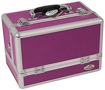 Craft Accents 3-Tier Expandable Trays Purple Makeup Case