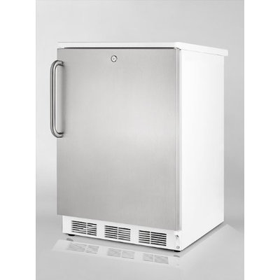 Summit FF6LSSTB 5.5 Cu. Ft. Stainless Steel Undercounter Compact Refrigerator