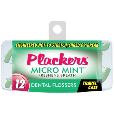 Plackers Micro Flosser with Travel Case