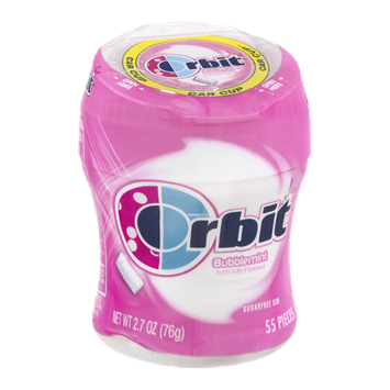 Orbit Sugar Free Gum Pieces Bubblemint - 55 CT