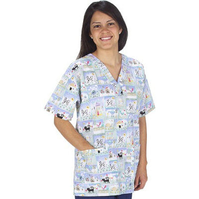 Medline Scrubs Scrub Top Ladies 2 Pocket V-Neck