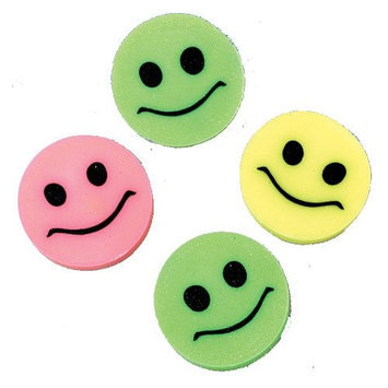 US Toy Company LM71 Mini Smile Erasers#44; 144Pack