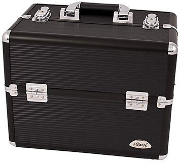 Craft Accents 3-Tiers Accordion Trays Professional Cosmetic Makeup Case
