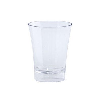 King Zak Ind Lillian Tablesettings 12246 Clear 2Oz Plastic Shot Cup Barware - 720 Per Case