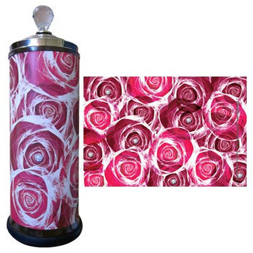 Salon Skins Decorative Barbicide Jar Wrap Rose Garden