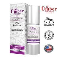 Anti-Aging Cream by Ümber. 1oz./30ml with 2% Retinol Jojoba Oil Green Tea & Vitamin C: Anti-Aging
