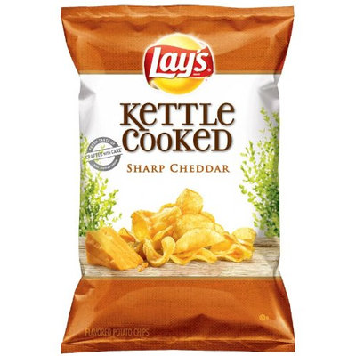 LAY'S® Kettle Cooked Sharp Cheddar Potato Chips