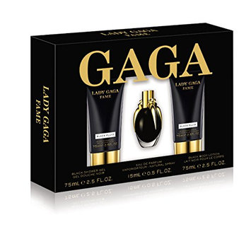 Lady GaGa Fame 3 Piece Gift Set (0.5 Ounce Eau De Parfum Plus 2.5 Ounce Body Lotion Plus 2.5 Ounce Shower Gel)